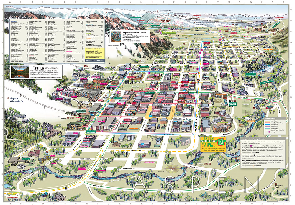 Aspen Maps, Colorado and Surrounding Area | Aspen4Sale